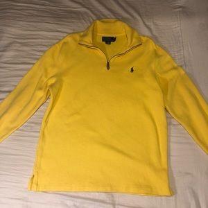 Yellow 1/4 zip Polo by Ralph Lauren Sweater